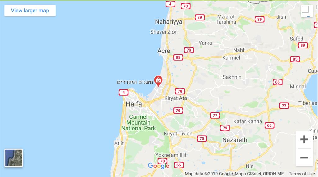 תיקון מזגנים ומקררים בחיפה והקריות מפה